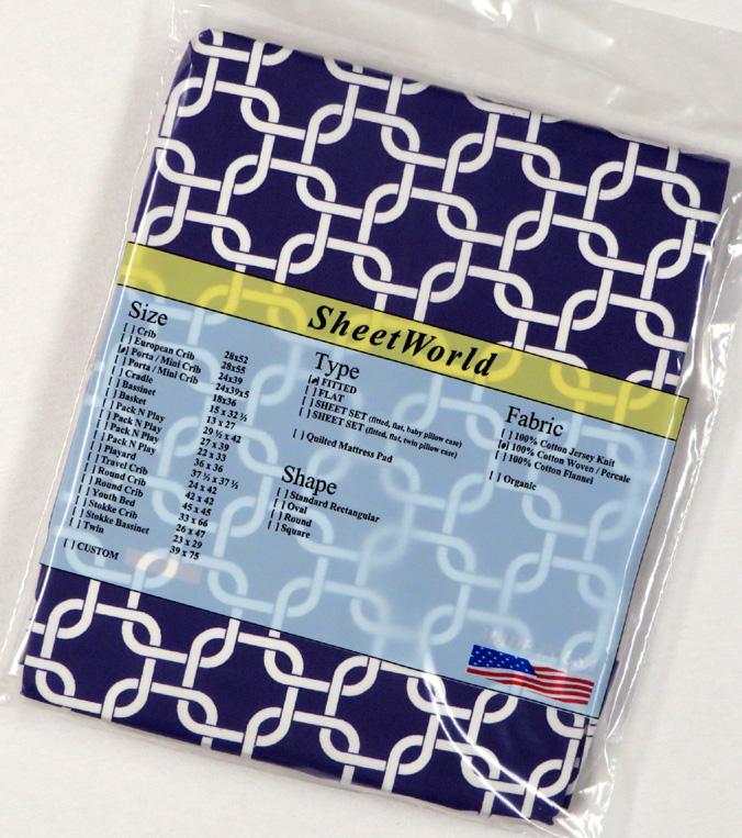 Purple Links - Cotton Portable / Mini Crib Sheet - 24 x 38