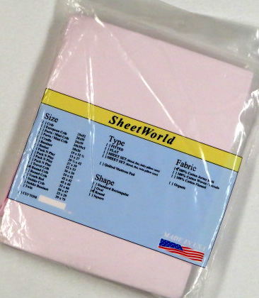 Solid Pink Cotton Jersey Fitted Round Crib Sheet 42 x 42