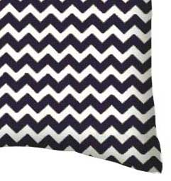Percale Pillow Case - Navy Chevron Zigzag