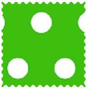 Polka Dots Green Fabric