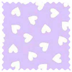 Hearts Pastel Lavender Woven Fabric