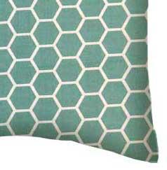 Percale Pillow Case - Seafoam Blue Honeycomb