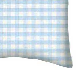 Baby Pillow Case - Blue Gingham Jersey Knit