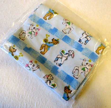 Marching Bears & Bunnies Flannel Baby Pillow Case