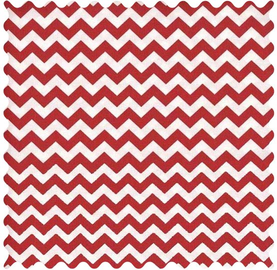 Red Chevron Fabric - 100% Cotton - 39 x 42 inches