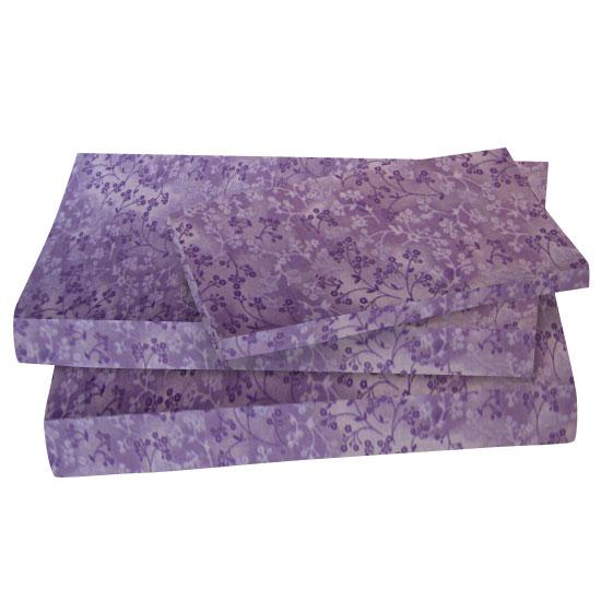 Lavender Floral Cotton Woven Twin