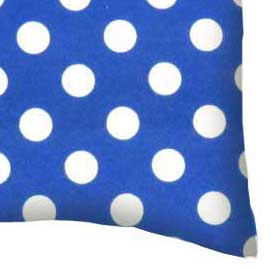 Flannel Pillow Case - Polka Dots Royal Blue