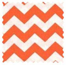 Orange Chevron Zigzag Fabric