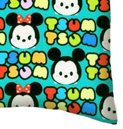 Twin Pillow Case - Tsum Tsum Aqua
