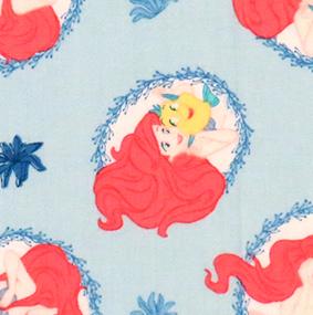Little Mermaid blue Fabric