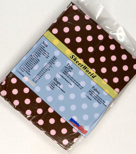 Pink Dots Brown - Fitted Pack N Play Sheet - Fits Graco - 27 x 39