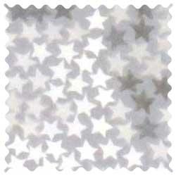 Gray Stars Fabric