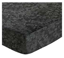 Cradle - Charcoal Grey Floral - Matching Bumper - 100% Cotton Percale - General Prints Cradle Sheets