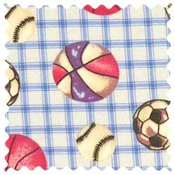 Sports Blue Grid Fabric