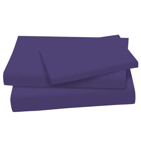 Purple Cotton Jersey Knit Twin