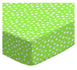 Primary Stars White On Green Woven