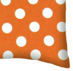 Flannel Pillow Case - Polka Dots Orange