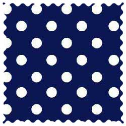 Primary Polka Dots Navy Woven Fabric