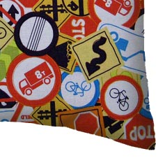 Percale Pillow Case - Traffic Signs
