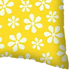 Percale Pillow Case - Primary Yellow Floral Woven