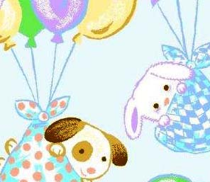 Basket - Pastel Bunnies - Fitted - 100% Cotton Percale - Cuddlies Basket Sheets