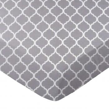 Grey Large Quatrefoil