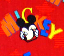 Basket - Mickey Mouse Red - Fitted - 100% Cotton Percale - Character Prints - Kid Characters Basket Sheets