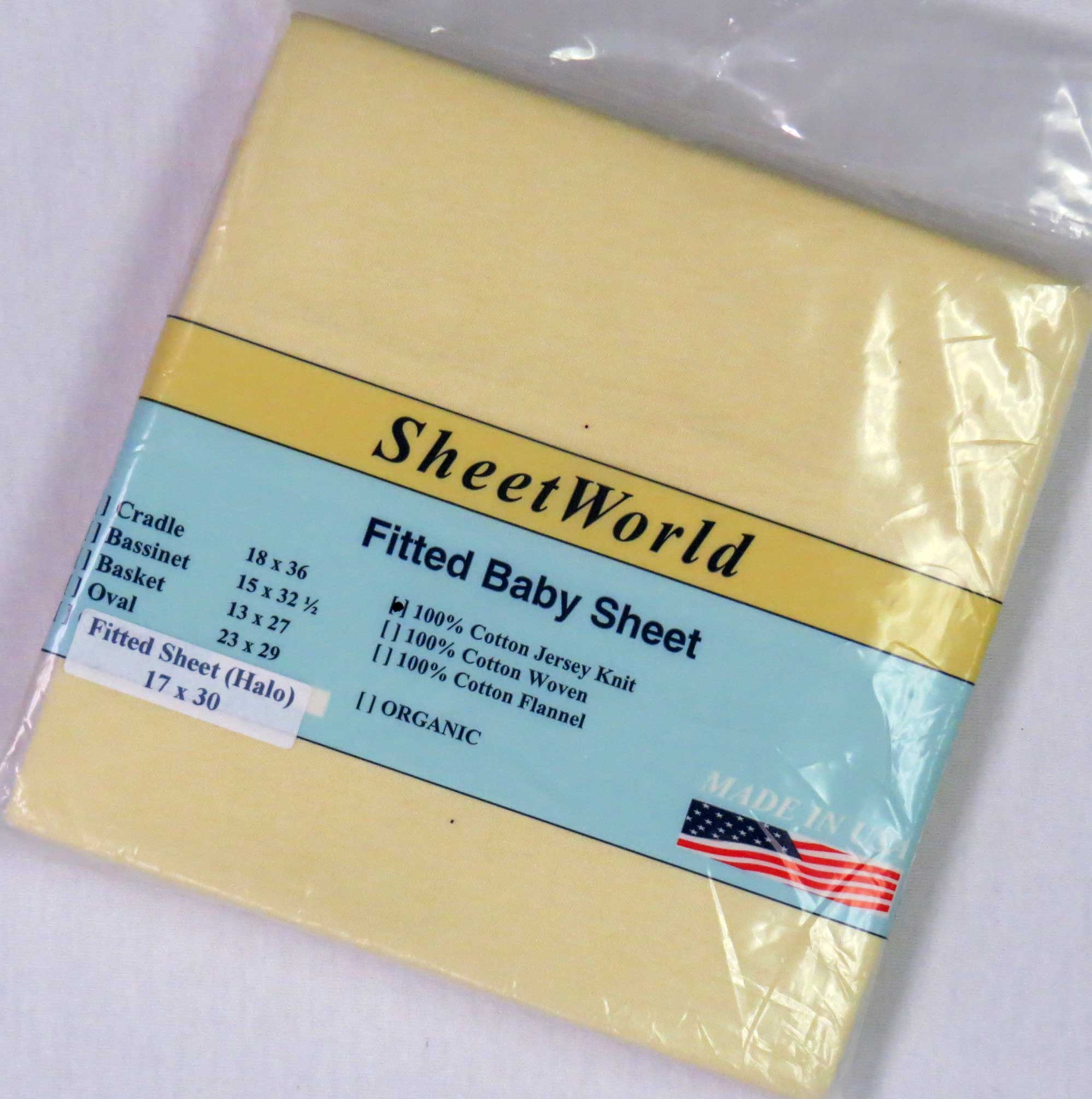 Solid Yellow Cotton Jersey Bassinest Sheet - Fits Halo