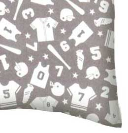 Flannel Pillow Case - Sports Grey