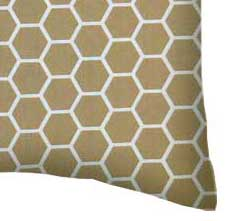 Percale Pillow Case - Khaki Honeycomb