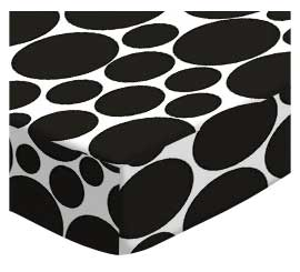 Cradle - Black On White Dots - Fitted - 100% Cotton Woven - Modern Print Collection Cradle Sheets