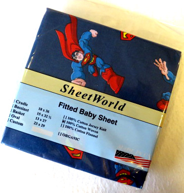 Superman Cradle Sheet