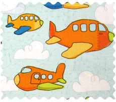 Fabric Shop - Airplanes Pale Blue Fabric - Yard - 100% Cotton Percale - Baby Transport Fabric Shop