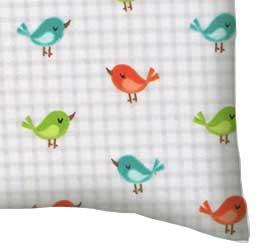 Flannel Pillow Case - Birdies