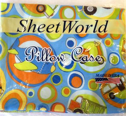 Transportation Bubbles Cotton Baby Pillow Case