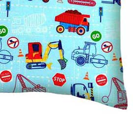 Percale Pillow Case - Construction Zone