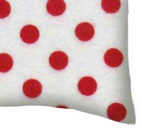 Flannel Pillow Case - Red Polka Dots