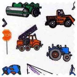 Construction Trucks Fabric