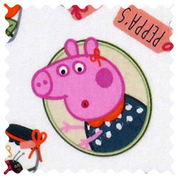 Peppa Pig Jars Fabric