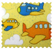 Fabric Shop - Airplanes Yellow Fabric - Yard - 100% Cotton Flannel - Baby Transport Fabric Shop