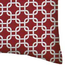 Percale Pillow Case - Burgundy Links