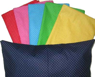 Percale Pillow Cases - Primary Pindot Collection