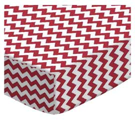Red Chevron Zigzag
