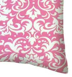 Percale Pillow Case - Pink Damask