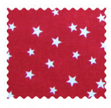 Cloudy Stars Red Fabric