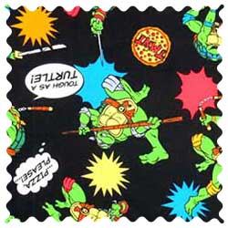 Ninja Turtles Black Fabric
