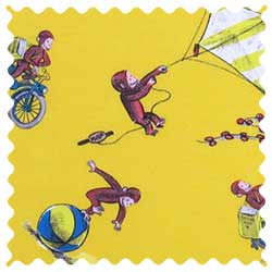 Curious George Fun Fabric