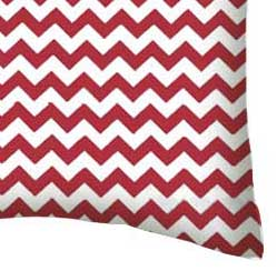Percale Pillow Case - Red Chevron Zigzag