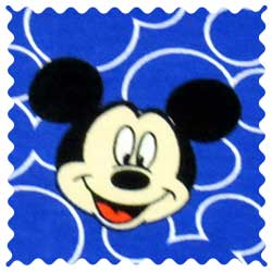 Mickey Mouse Faces Fabric