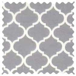 Grey Quatrefoil Fabric
